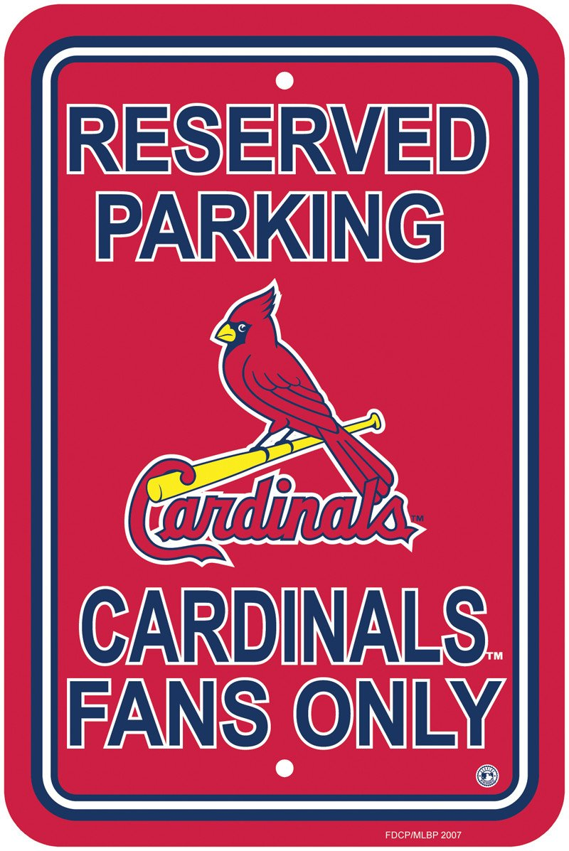 St. Louis Cardinals Plastic Parking Sign from Fremont Die, Inc.