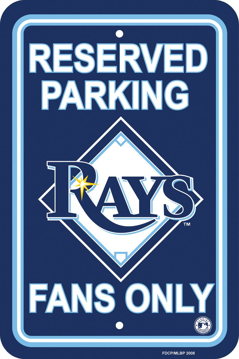 Tampa Bay Rays Plastic Parking Sign from Fremont Die, Inc.