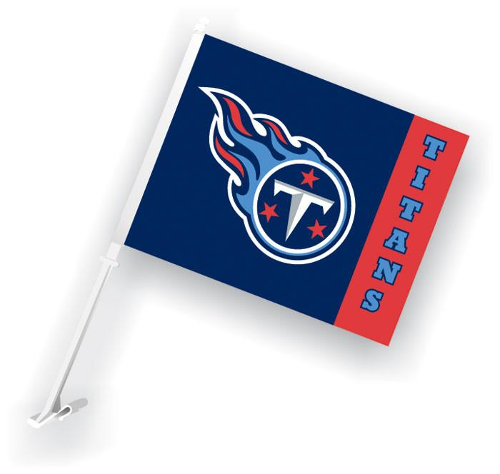 Tennessee Titans Car Flag W/Wall Brackett from Fremont Die, Inc.