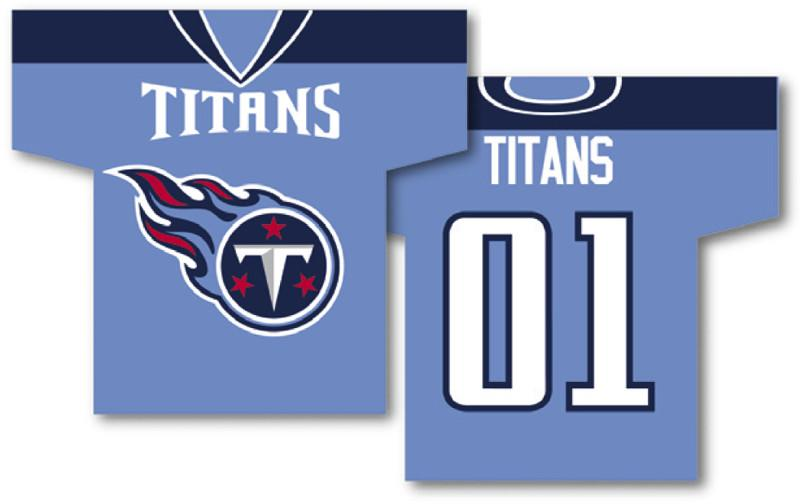 "Tennessee Titans Jersey Banner 34"" x 30"" - 2-Sided from Fremont Die, Inc."