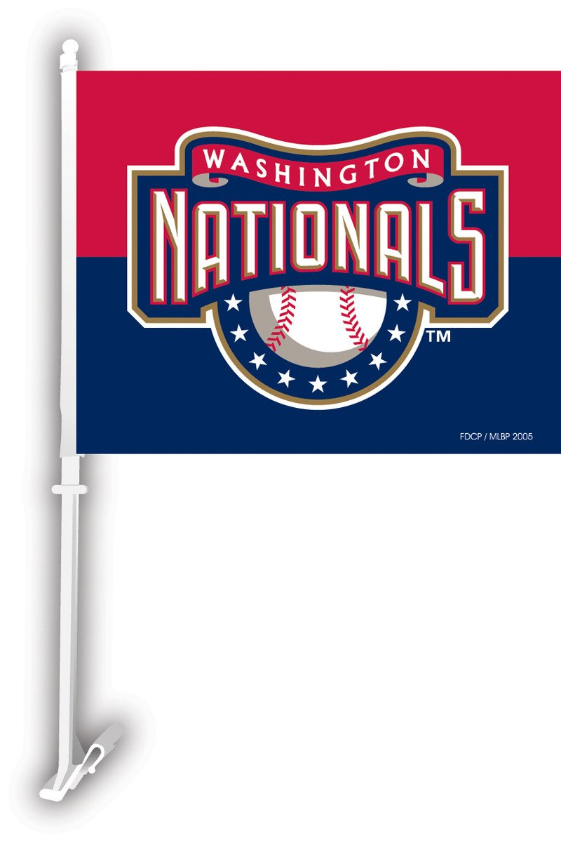 Washington Nationals Car Flag W/Wall Brackett from Fremont Die, Inc.