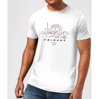 Friends Love Laughter Men's T-Shirt - White - L - White from Friends