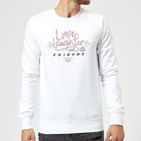 Friends Love Laughter Sweatshirt - White - M - White from Friends