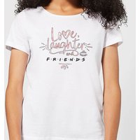 Friends Love Laughter Women's T-Shirt - White - S - White from Friends