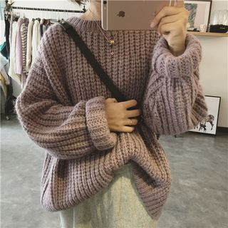 Chunky Crew-Neck Sweater from Frigga
