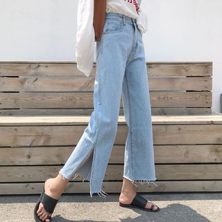Cropped Wide Leg Jeans from Frigga