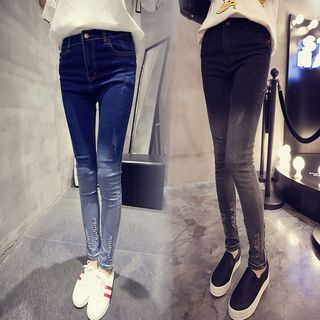 Distressed Skinny Jeans from Frigga