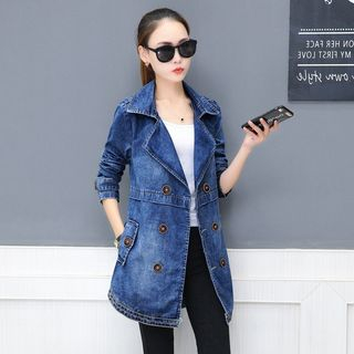 Double-Breasted Denim Jacket from Frigga