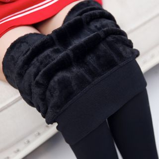 Fleece-Lined Tights from Frigga
