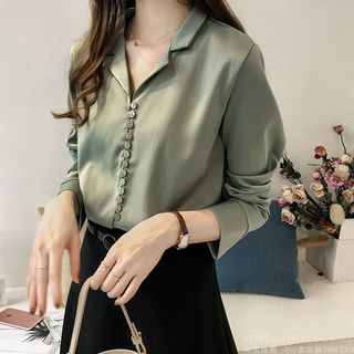 Notch Lapel Blouse from Frigga