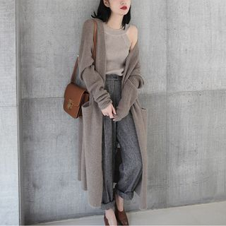 Open Front Long Cardigan from Frigga