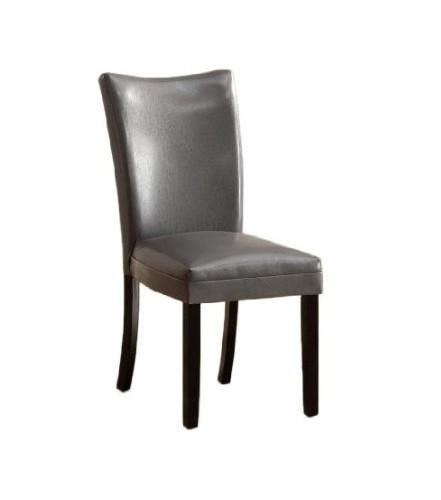 Furniture of America IDF-3176GY-SC Grey Contemporary Leatherette Side Chair (Set of 2) from Furniture of America