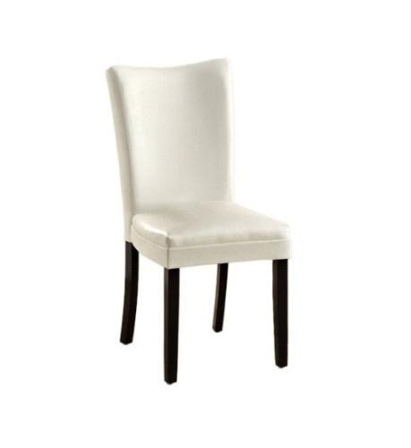 Furniture of America IDF-3176WH-SC White Contemporary Leatherette Side Chair (Set of 2) from Furniture of America