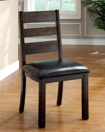Furniture of America IDF-3680SC Dark Walnut Dining Chair (Set of 2) from Furniture of America
