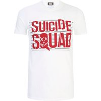 DC Comics Men's Suicide Squad Line Up Logo T-Shirt - White - S - White from Geek Clothing