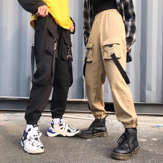 Couple Matching Cargo Pants from Genki Groove