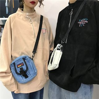 Couple Matching Embroidered Corduroy Pullover from Genki Groove