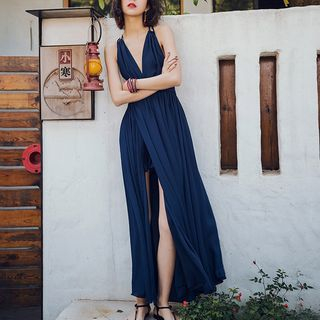 Plain Sleeveless Maxi Sundress from Glaypio