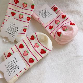 Strawberry Patterned Socks from Glotto