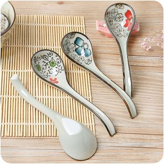 Ceramic Floral Spoon from Good Living