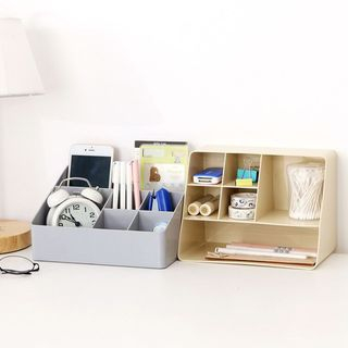 Divided Plastic Desk Organizer from Good Living