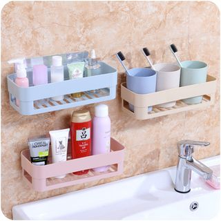 Wall Adhesive Bathroom Organizer from Good Living