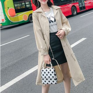 Buttoned Long Trench Coat from Gray House