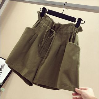 Drawstring-Waist Wide-Leg Shorts from Gray House