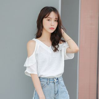 Off Shoulder Elbow-Sleeve Blouse from Gray House