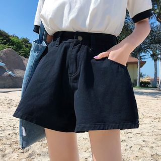 Wide-Leg Denim Shorts from Gray House