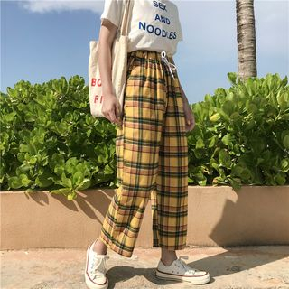 Wide Leg Plaid Pants from Guajillo