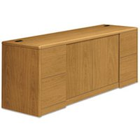 10700 Series Credenza w/Doors, 72w x 24d x 29 1/2h, Harvest from HON