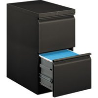 Efficiencies Mobile Pedestal File w/Two File Drawers, 22-7/8d, Charcoal from HON