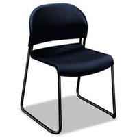 GuestStacker Series Chair, Regatta Blue with Black Finish Legs, 4/Carton from HON