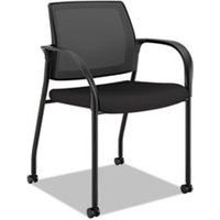 Ignition 2.0 Ilira-Stretch Mesh Back Mobile Stacking Chair, Black Fabric from HON