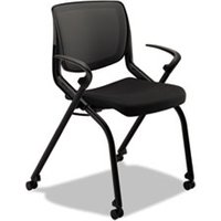 Motivate Seating Nesting/Stacking Flex-Back Chair, Black/Onyx/Black from HON