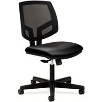 Volt Series Mesh Back Leather Task Chair, Black from HON