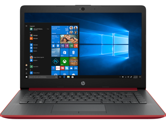 HP - 14z Laptop|Scarlet Red|3.1 GHz AMD Dual Core CPU|256 GB SSD|8 GB DDR4|HD Display|Windows 10 Home 64 from HP