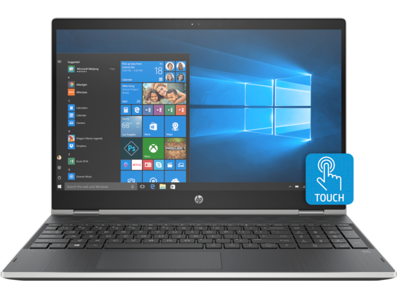 "HP Pavilion x360 Convertible Laptop - 15t|Silver|1.6 GHz Intel Quad Core CPU|1 TB SATA|12 GB DDR4|15.6"" HD Display