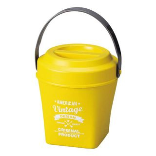 Hakoya American Vintage Tall Bucket Lunch Box (Yellow) One Size from Hakoya
