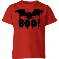 Boo Bat Kids' T-Shirt - Red - 7-8 Years - Red from Halloween