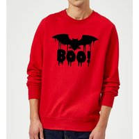 Boo Bat Sweatshirt - Red - L - Red from Halloween