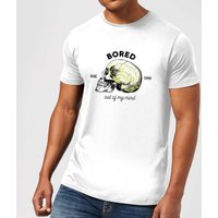Bored Out Of My Mind Men's T-Shirt - White - M - White from Halloween