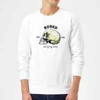 Bored Out Of My Mind Sweatshirt - White - L - White from Halloween