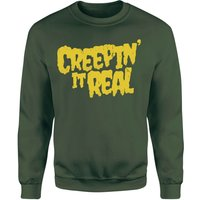 Creepin It Real Sweatshirt - Forest Green - M - Forest Green from Halloween