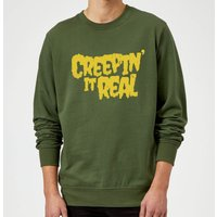 Creepin it Real Sweatshirt - Forest Green - XXL - Red from Halloween