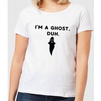 Halloween I'm A Ghost, Duh. Women's T-Shirt - White - XXL - White from Halloween