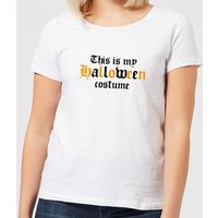 Halloween The Is My Halloween Costume Women's T-Shirt - White - S - White from Halloween