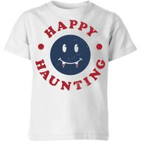 Happy Haunting Fang Kids' T-Shirt - White - 5-6 Years - White from Halloween