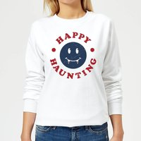 Happy Haunting Fang Women's Sweatshirt - White - L - White from Halloween